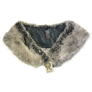 Accessorize Faux Fur Shrug Shawl One Size